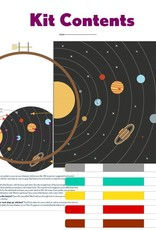Pop Lush Embroidery Kit Solar System