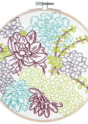 Pop Lush Embroidery Kit Succulent Garden