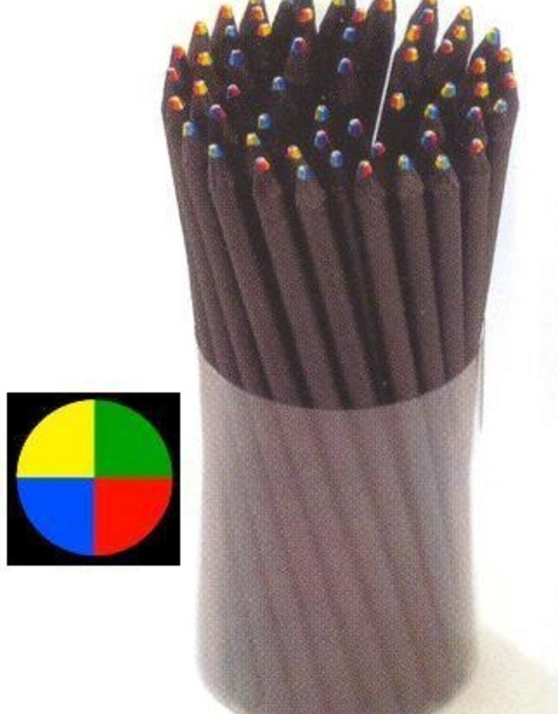6 in 1 Rainbow Pencil Black