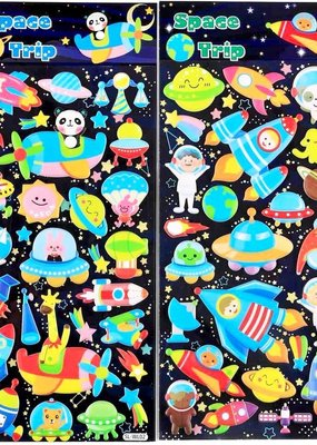 Sticker Puffy Space Trip