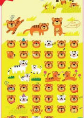 Sticker Funny Sticker World Tiger