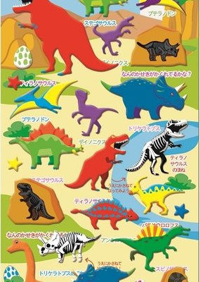 Sticker Red Dinosaur Puffy
