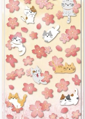 Stickers Flat Sakura Cat