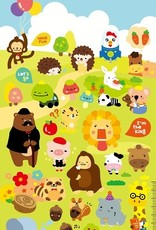 Sticker Funny Animal Friends