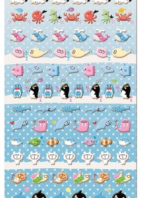 Sticker Puffy Sea Animal Assorted
