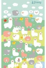 Stickers Alpaca and Sheep Puffy