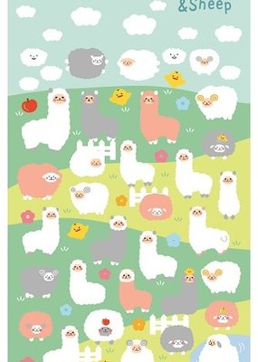 Stickers Alpaca and Sheep Puffy