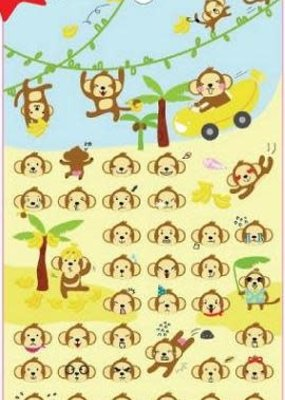 Sticker Monkey Puffy