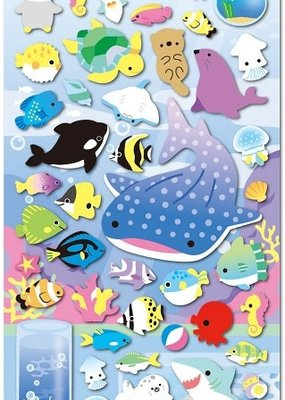 Sticker Puffy Aquarium