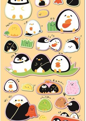 Sticker Kamio Penguin Puffy