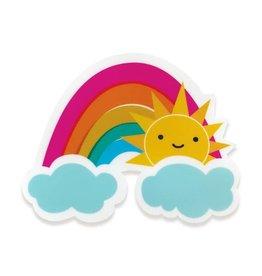 Night Owl Paper Goods Vinyl Sticker Sunny Rainbow