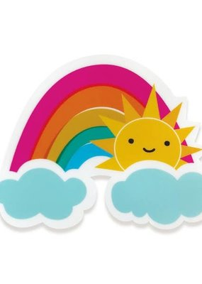Night Owl Paper Goods Vinyl Sticker Sunny Rainbow