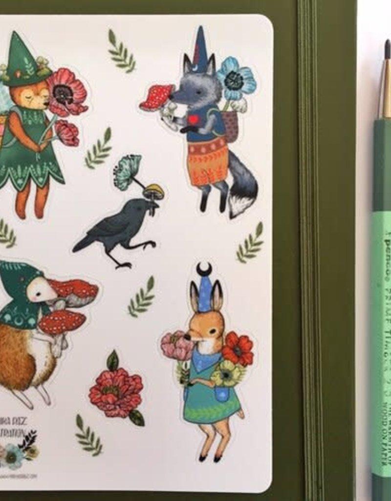 Marika Paz Sticker Sheet Magical Mage