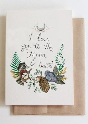 Marika Paz Card Love You To The Moon