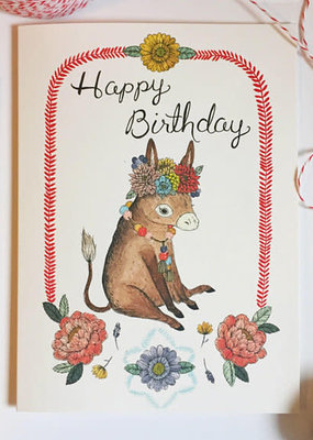 Marika Paz Card Burro Birthday