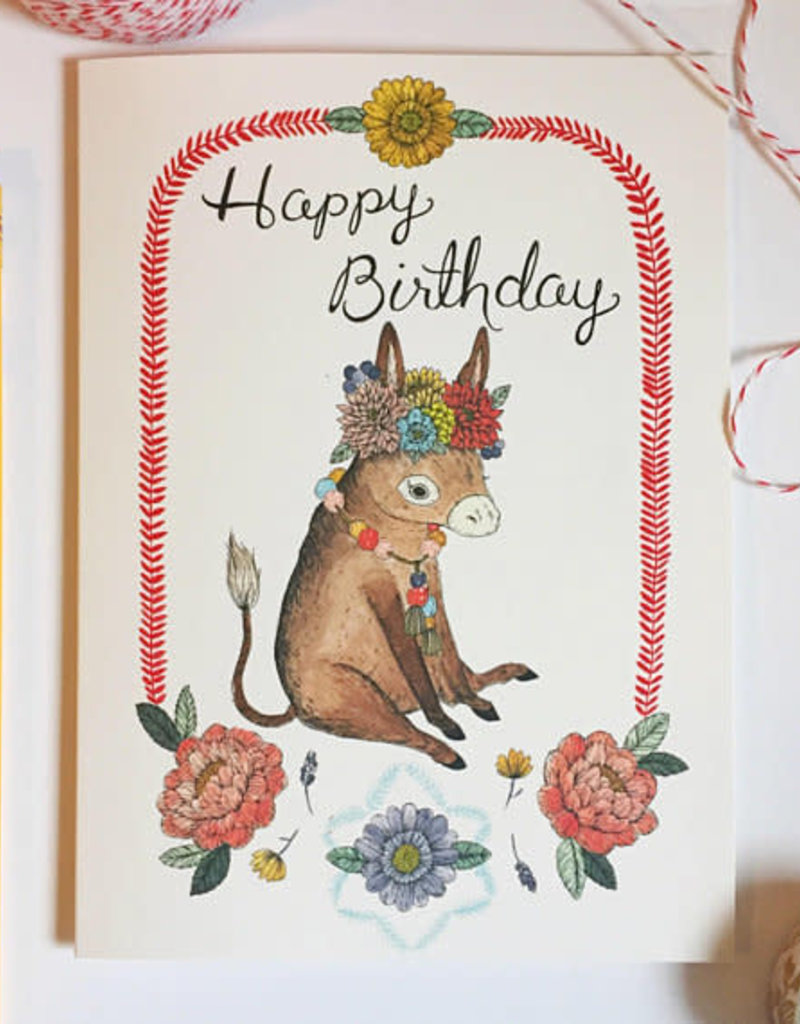 Marika Paz Card Burro Birthday