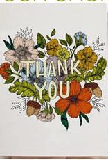 Marika Paz Card Thank You Floral