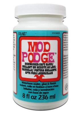 Plaid Mod Podge Dishwasher Safe 8 Ounce