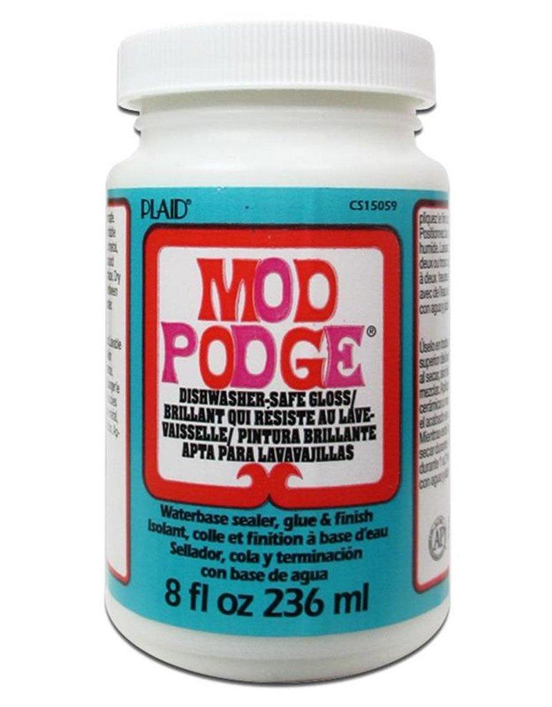 Plaid Mod Podge Dishwasher Safe 8 Ounce
