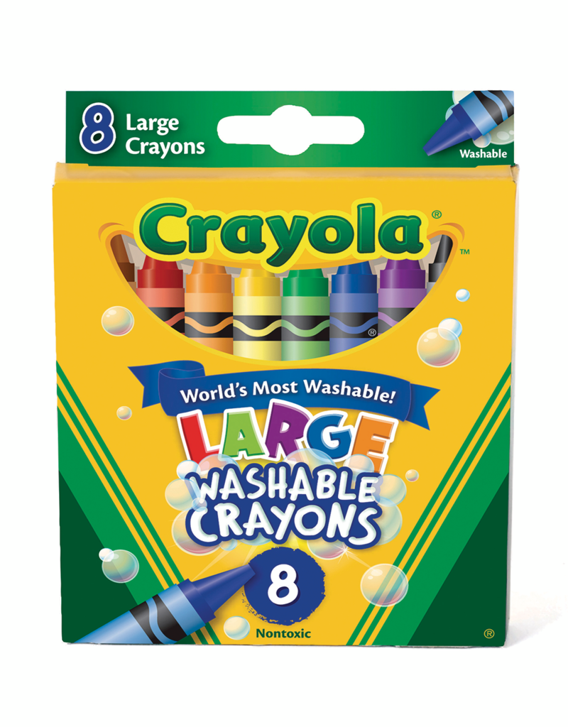 Crayola Crayola Washable Large Crayons 8 Piece Set