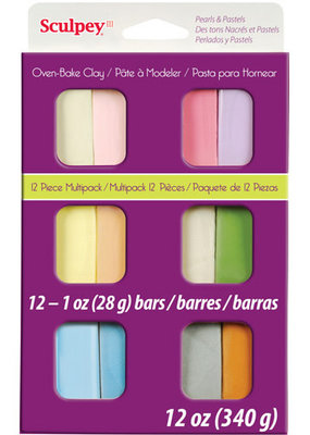 Polyform Sculpey III Multi Pack 12 Pack Pearl And Pastel