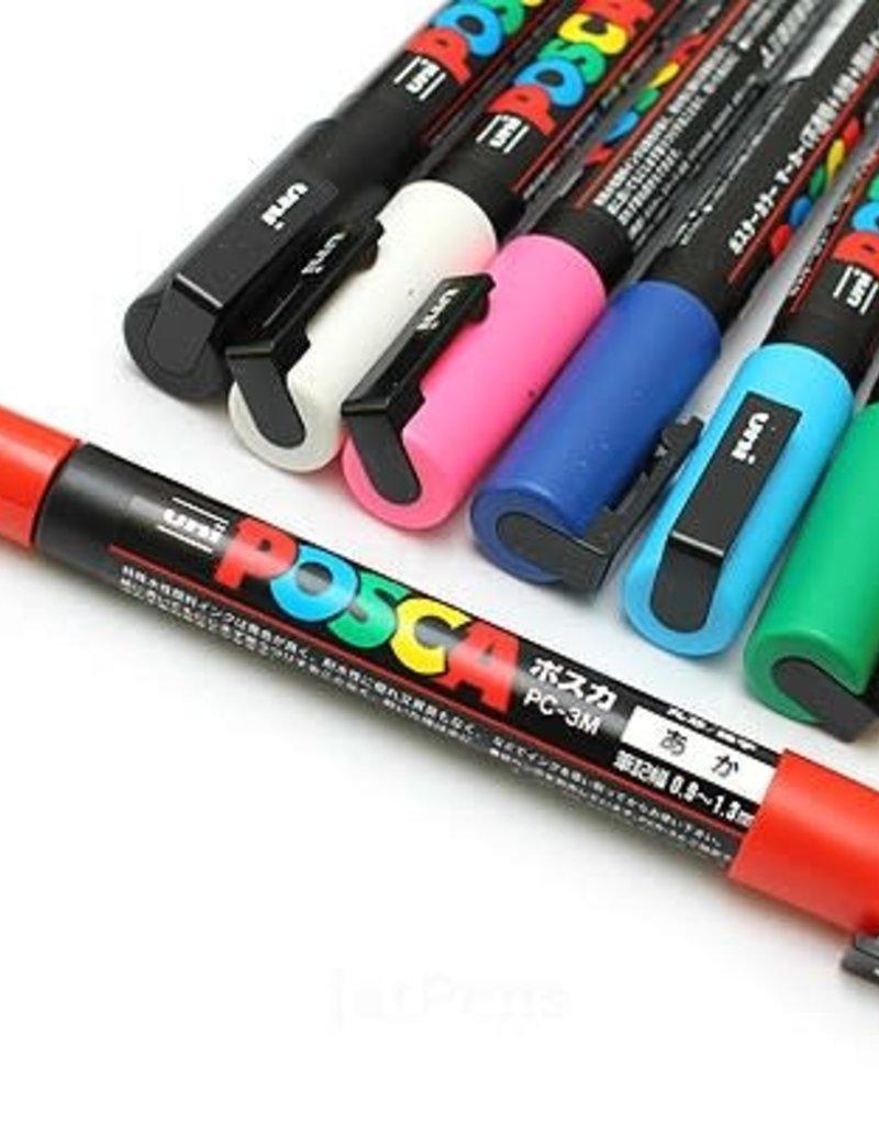POSCA Posca Acrylic Paint Marker PC-3M Fine 8 Piece Set