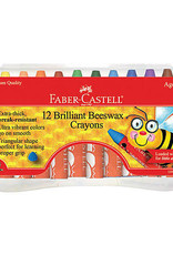 Faber-Castell Jumbo Beeswax Crayons 12 Count
