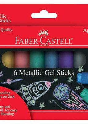 Faber-Castell Metallic Gel Sticks 6 Pack