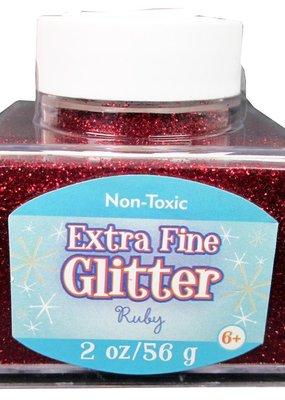 Sulyn Sulyn Glitter 2 Ounce Stack Jar Extra Fine Ruby