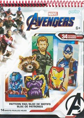Perler Perler Fused Bead Books Pattern Pad Marvel Avengers