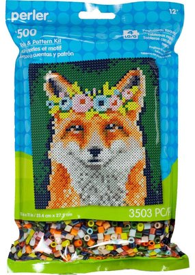 Perler Perler Fused Bead Kit Flower Crown Fox 3500 Piece