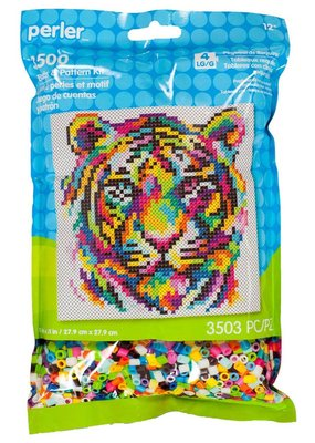 Perler Perler Fused Bead Kit Rainbow Tiger 3500 Piece