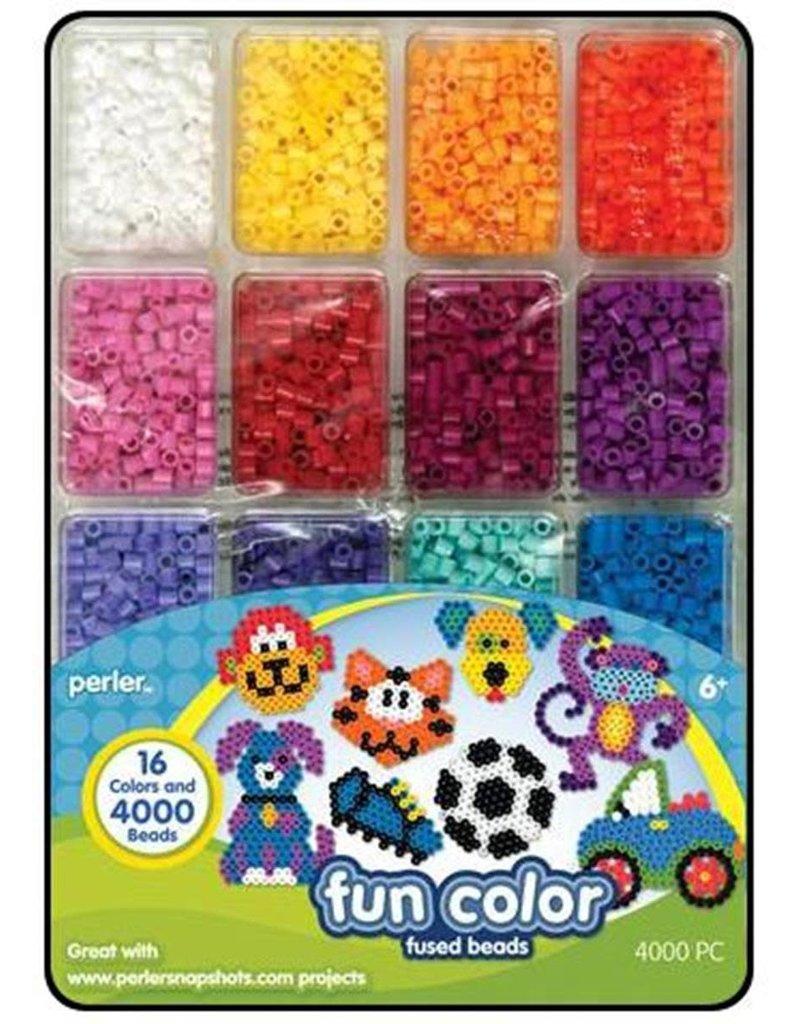 Perler Perler Fused Bead Tray 4000 Piece Fun Color