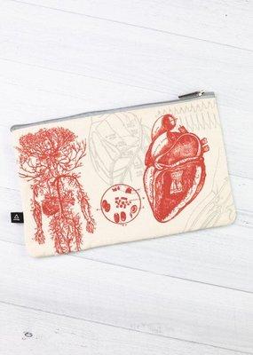Cognitive Surplus Zipper Case Heart Anatomy