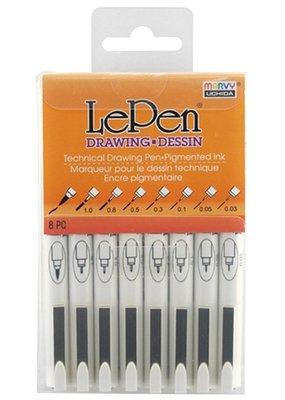 Marvy-Uchida LePen Drawing 8 Pen Set