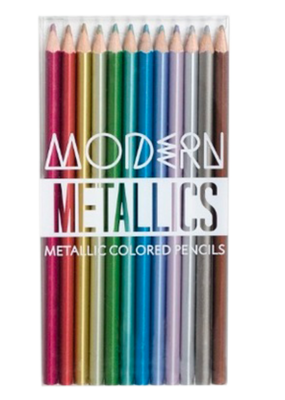 Ooly Modern Metallic Colored Pencils Set Of 12