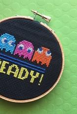 Spot Colors Cross Stitch Kit Pac Man