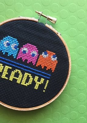 Spot Colors Cross Stitch Kit Pac Man
