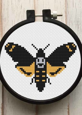 Spot Colors Cross Stitch Kit Moth
