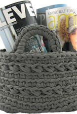 Hoooked Crochet Kit Basket Revisto Anthracite