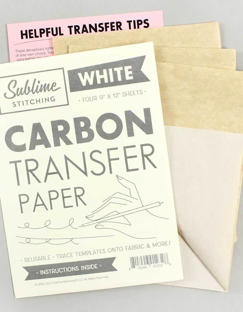 Sublime Stitching Carbon Transfer Paper White