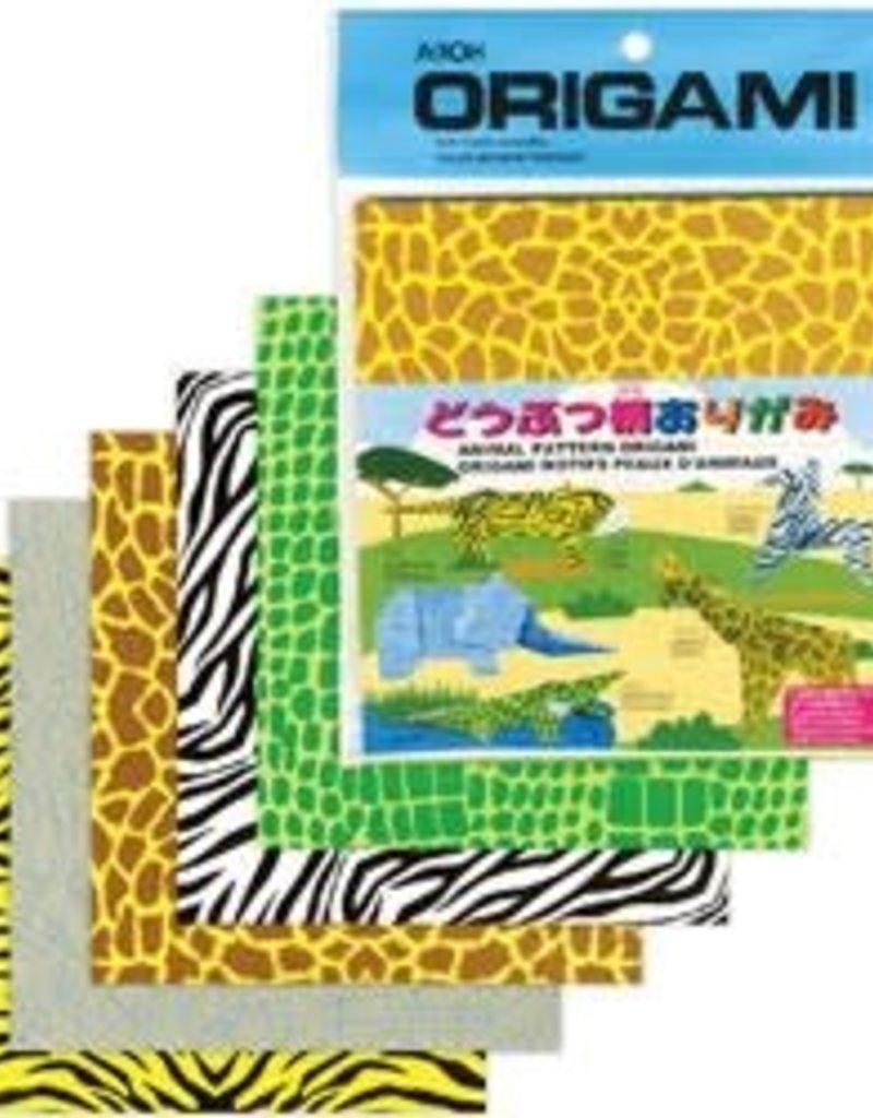 Aitoh Origami Paper Animal Prints 40 Pieces