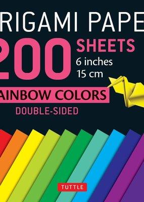 Tuttle Publishing Origami Paper 200 Sheets Rainbow Colors