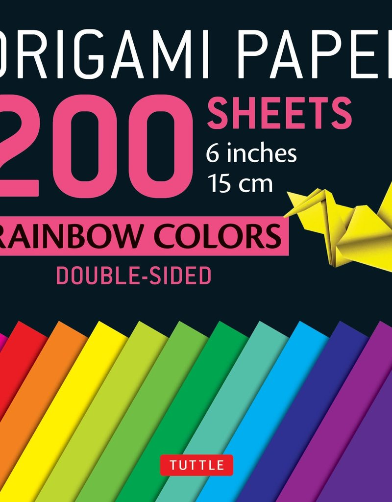 Tuttle Publishing Origami Paper Rainbow Colors 6 Inch 200 Sheets