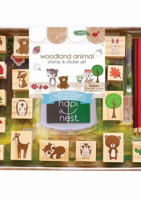 hapi nest Stamp and Sticker Set Woodland