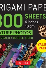 Tuttle Publishing Origami Paper Nature Photos 4 Inch 300 Sheets