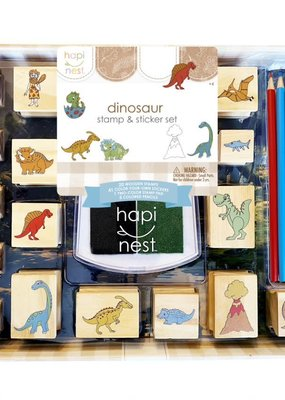 hapi nest Stamp and Sticker Set Dinosaur