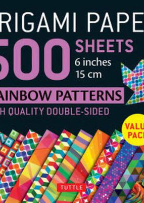 Tuttle Publishing Origami Paper 500 Sheets Rainbow Patterns