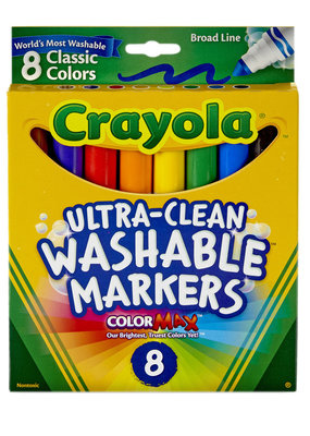 Crayola Marker Washable 8 Count Classic Broad