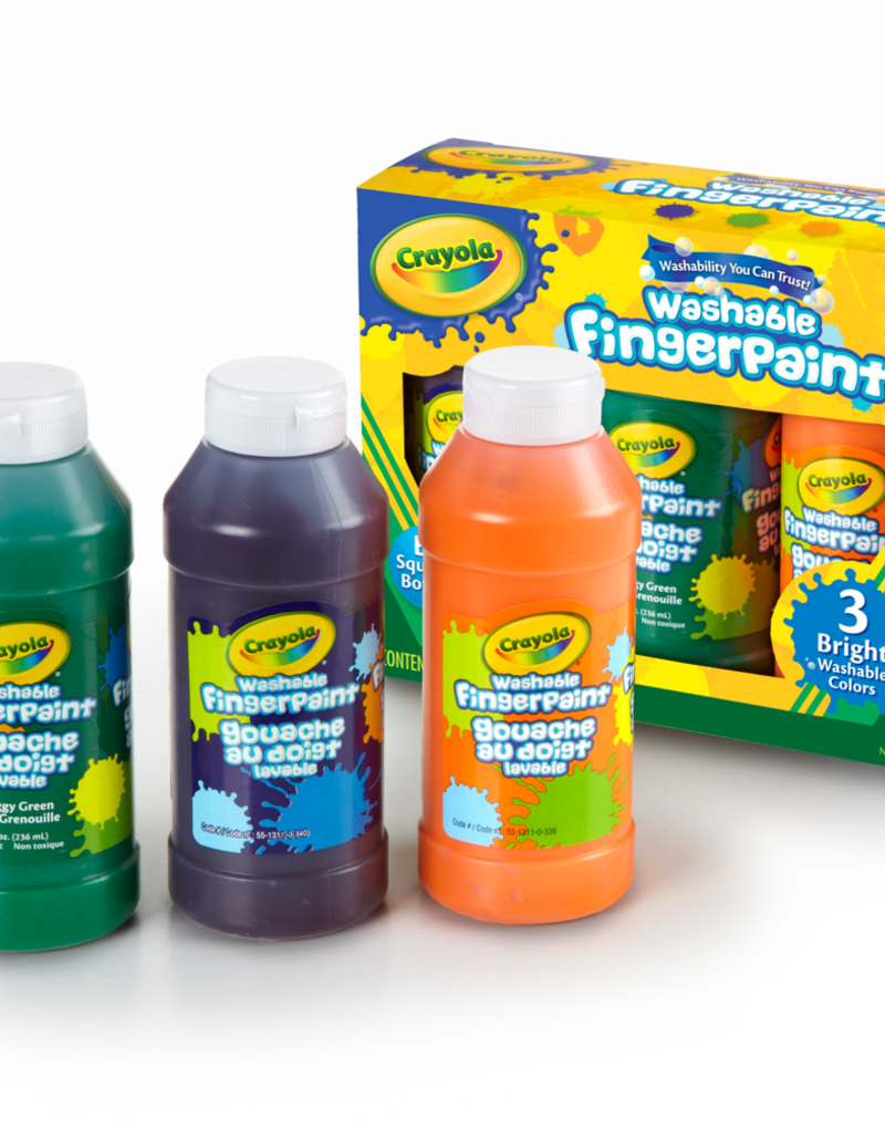 Crayola Finger Paint 8 Ounce 3 Pack Bright